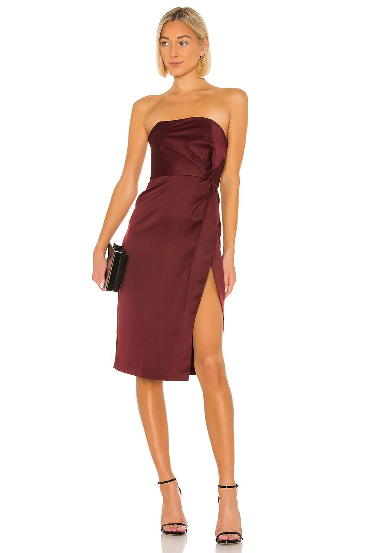 NBD Taliyah Midi Dress in Plum