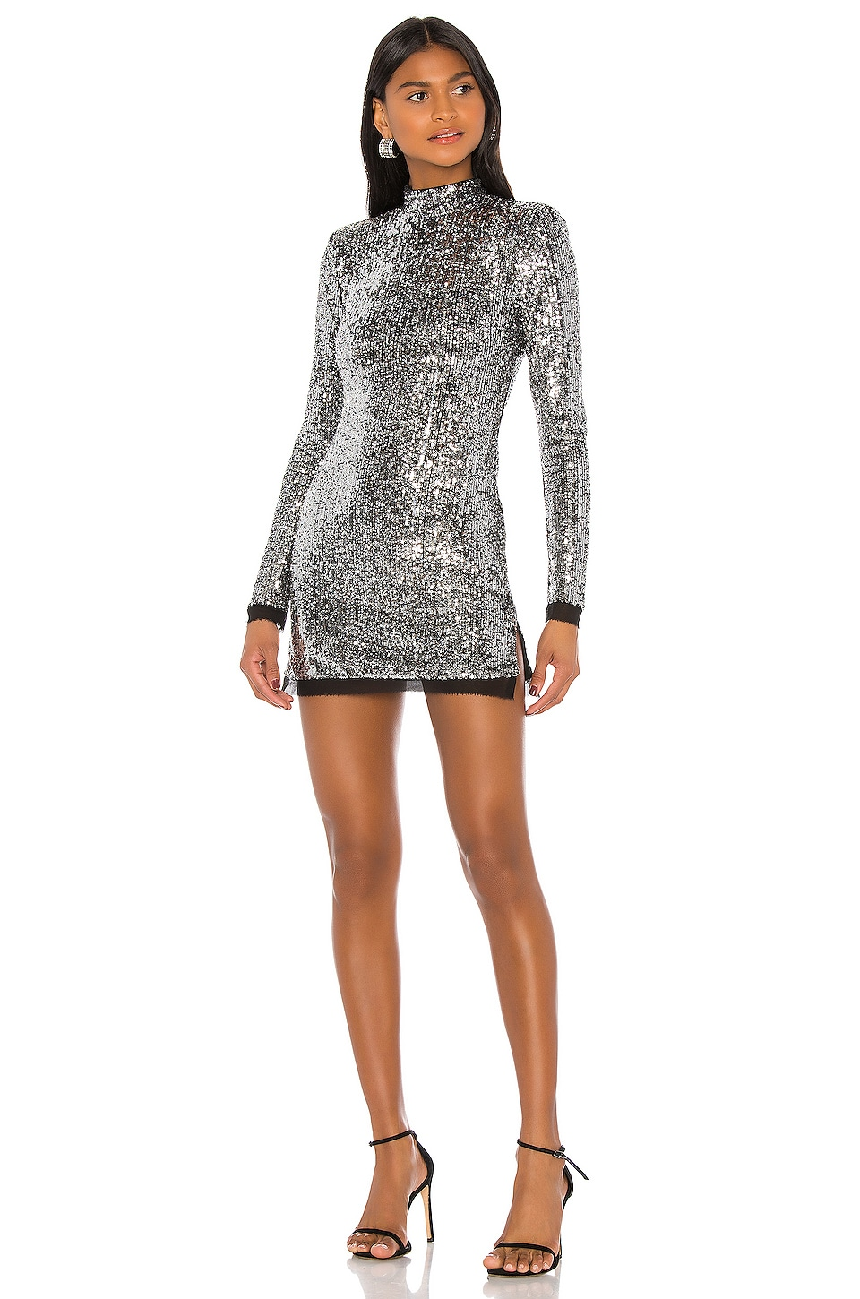 NBD Demelza Mini Dress in Silver