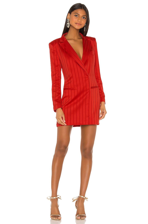 NBD Dione Blazer Dress in Vibrant Red
