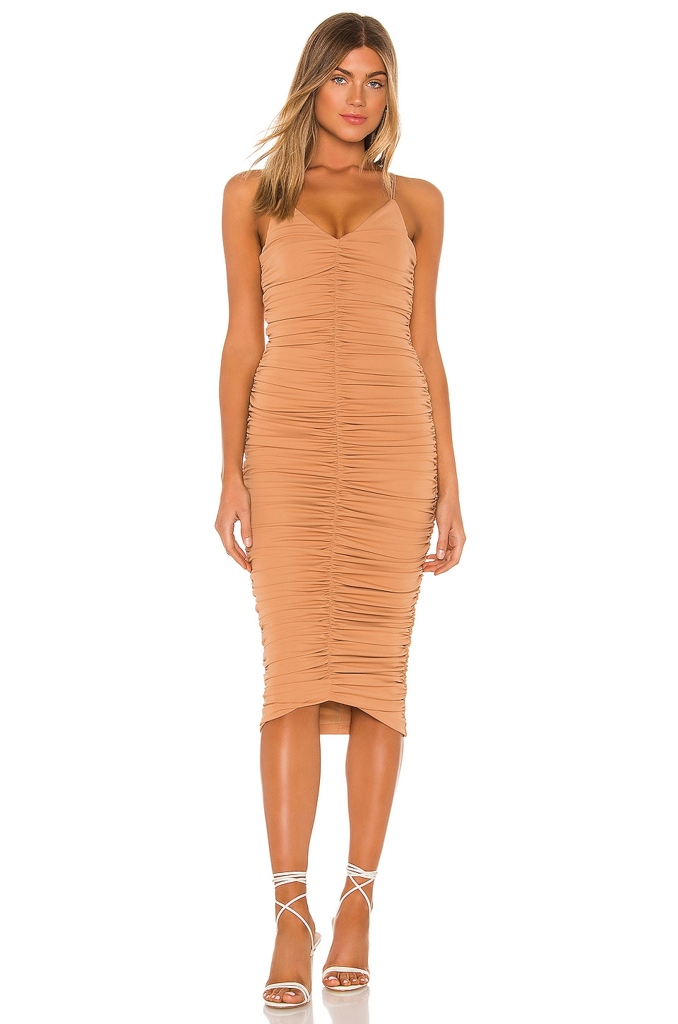 NBD Sagittarius Midi Dress in Nude