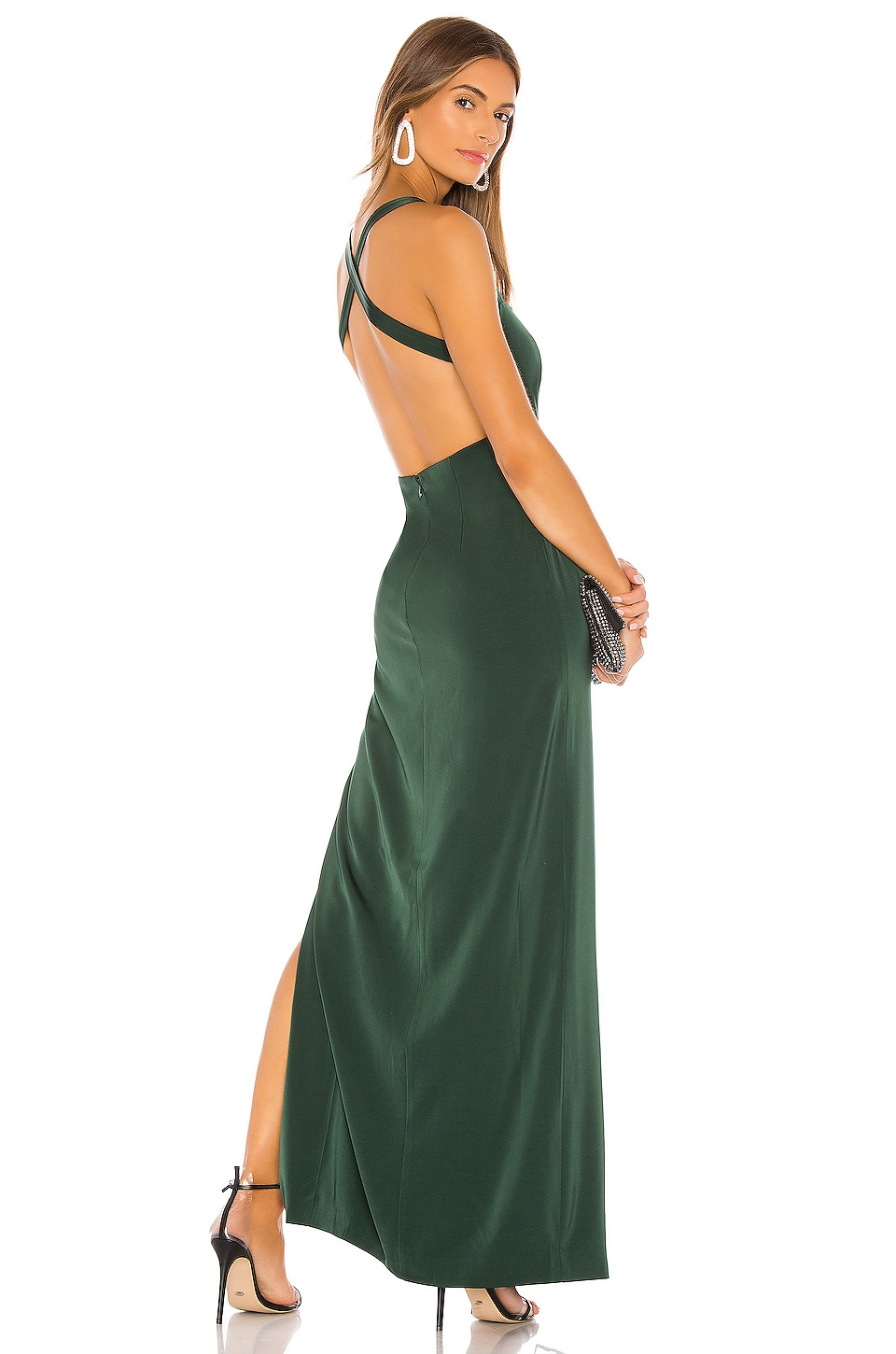 NBD Jill Gown in Emerald Green