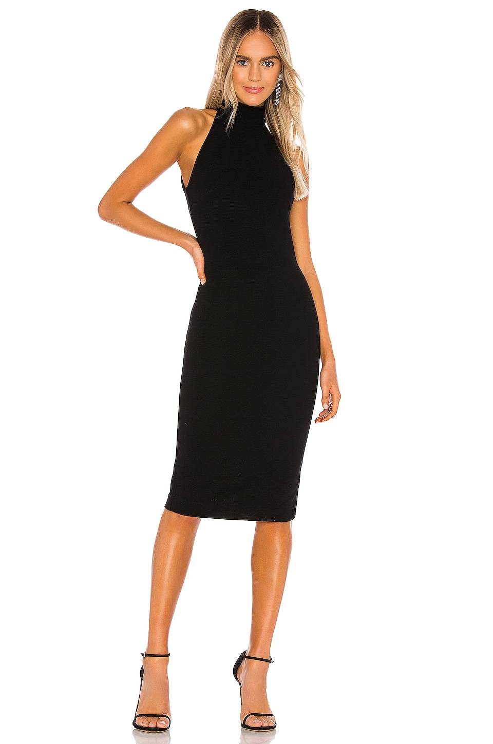 NBD Adelle Midi Dress in Black