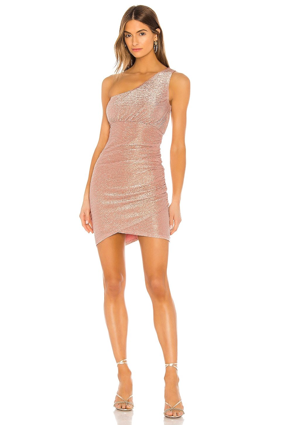 NBD Amora Mini Dress in Rose Gold