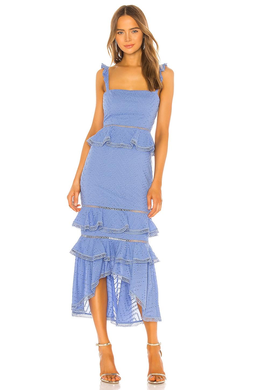 NBD Haze Midi Dress in Periwinkle Blue