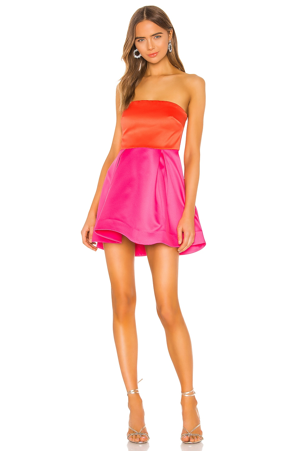 NBD Lian Mini Dress in Fuchsia & Orange