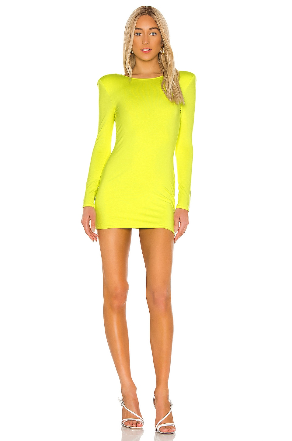 NBD Cirsei Mini Dress in Chartreuse