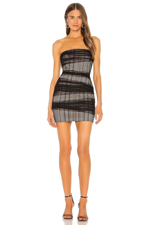 NBD Aiden Mini Dress in Black Mesh