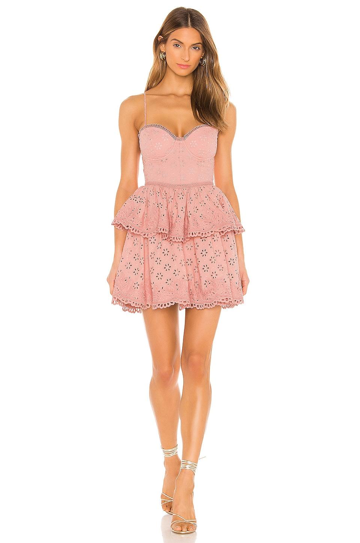 NBD Anzhela Mini Dress in Nude Pink