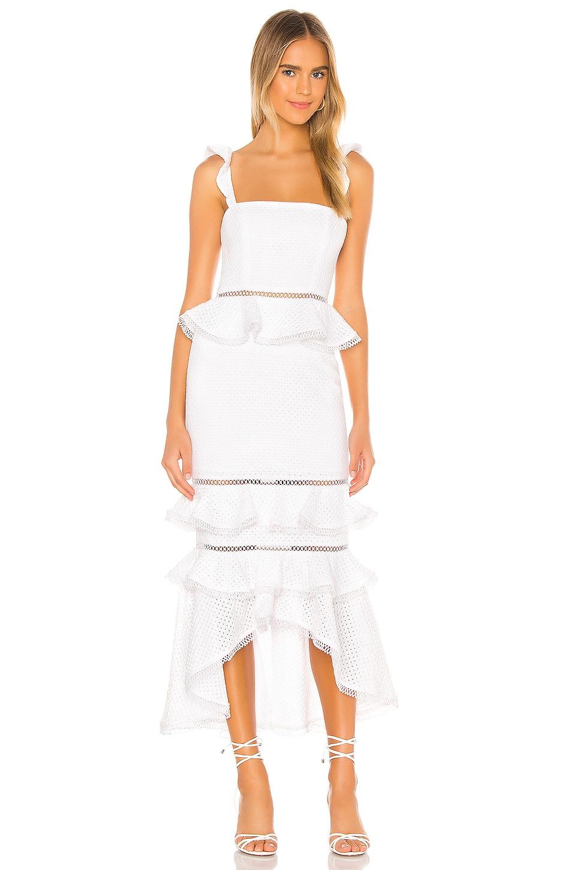 NBD Haze Midi Dress in Ivory
