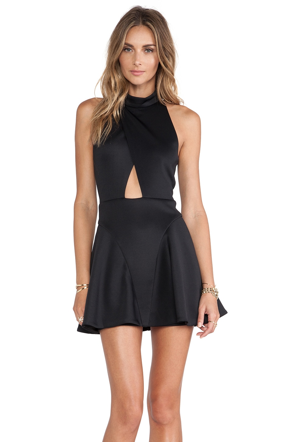 NBD Cocktail Fit & Flare Dress in Black from Revolve.com