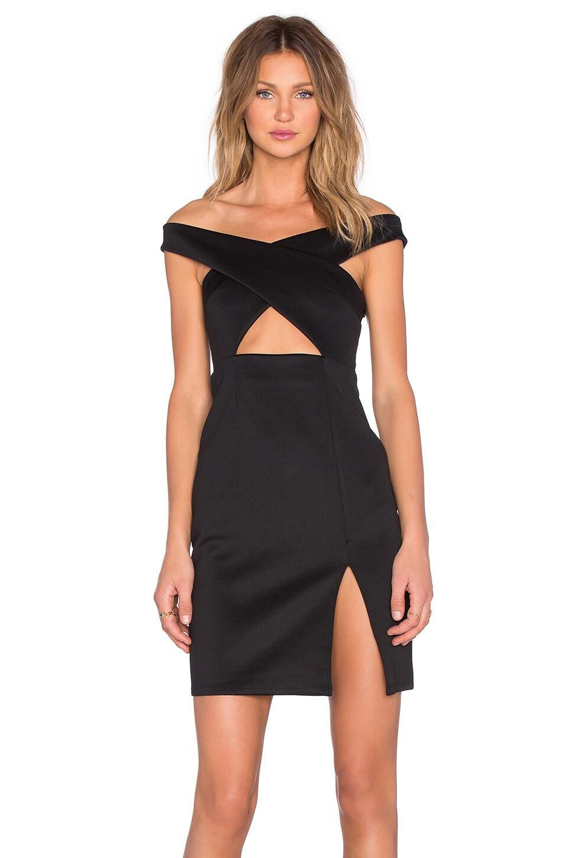 NBD x REVOLVE Criss Cross Midi Dress in Black