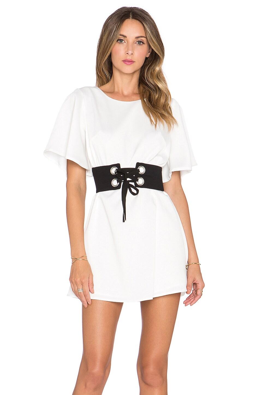 NBD Lock 'n' Load Dress in White