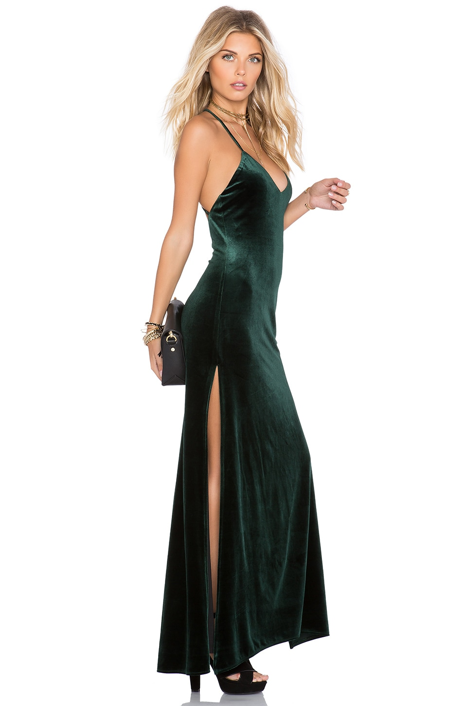 NBD In The Deep Maxi Dress in Hunter Green