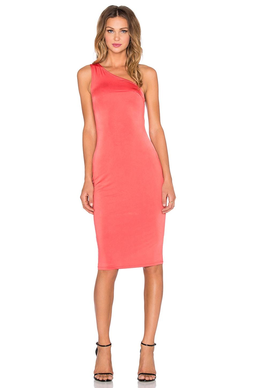 NBD x REVOLVE Gigi One Shoulder Maxi Dress in Red Orange