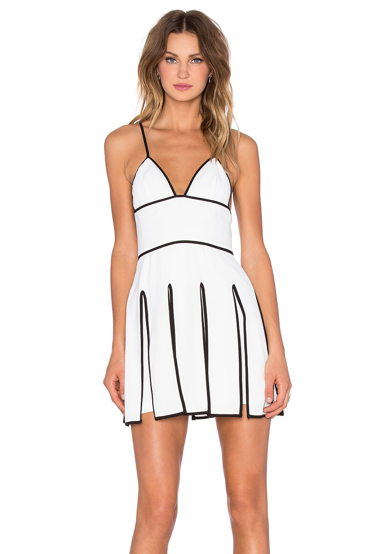NBD Outlines Dress in White & Black