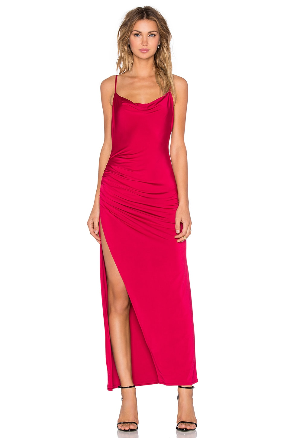 NBD Take It All Maxi Dress in Berry Red