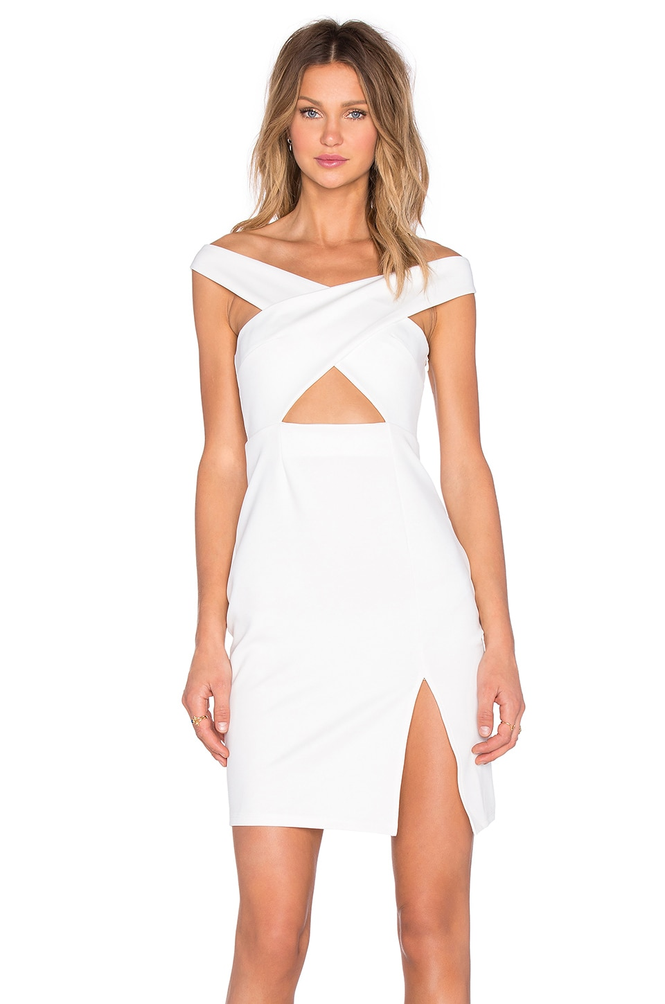 NBD x REVOLVE Criss Cross Midi Dress in White