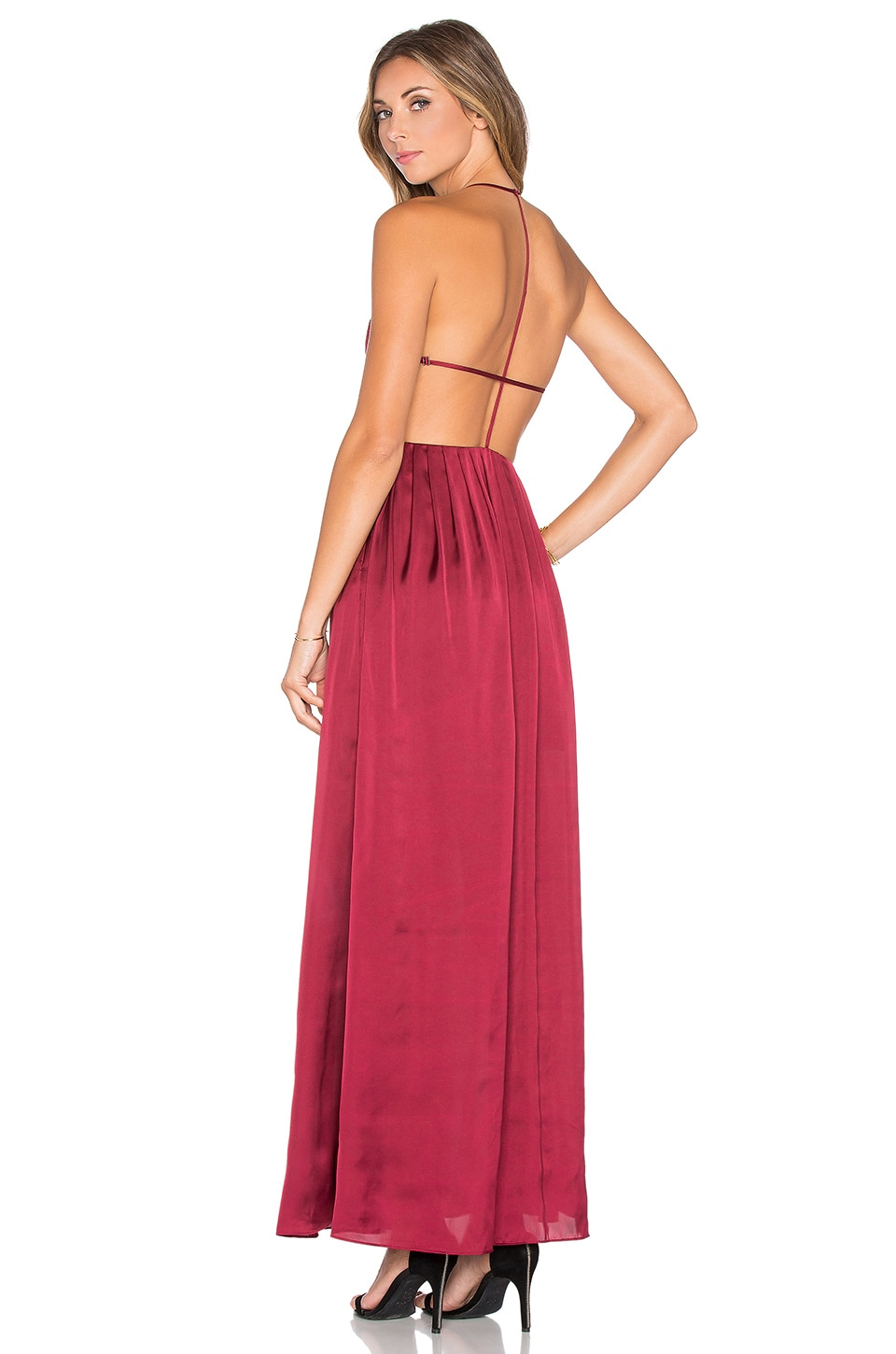 NBD x REVOLVE Get Out Maxi Dress in Berry