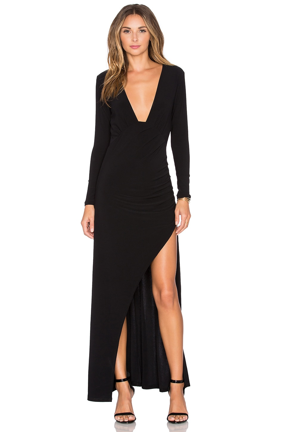 NBD x REVOLVE Own The Night Maxi Dress in Black