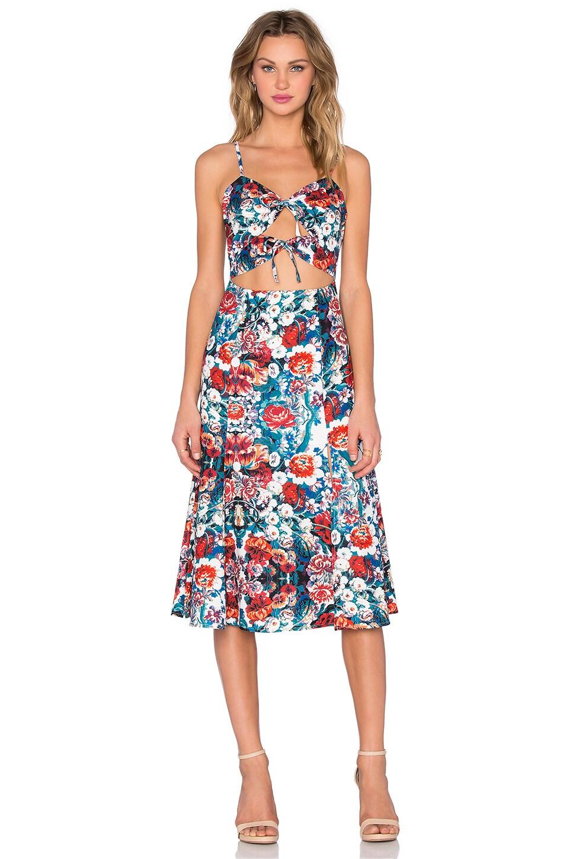 NBD Tie Me Down Dress in Dark Floral