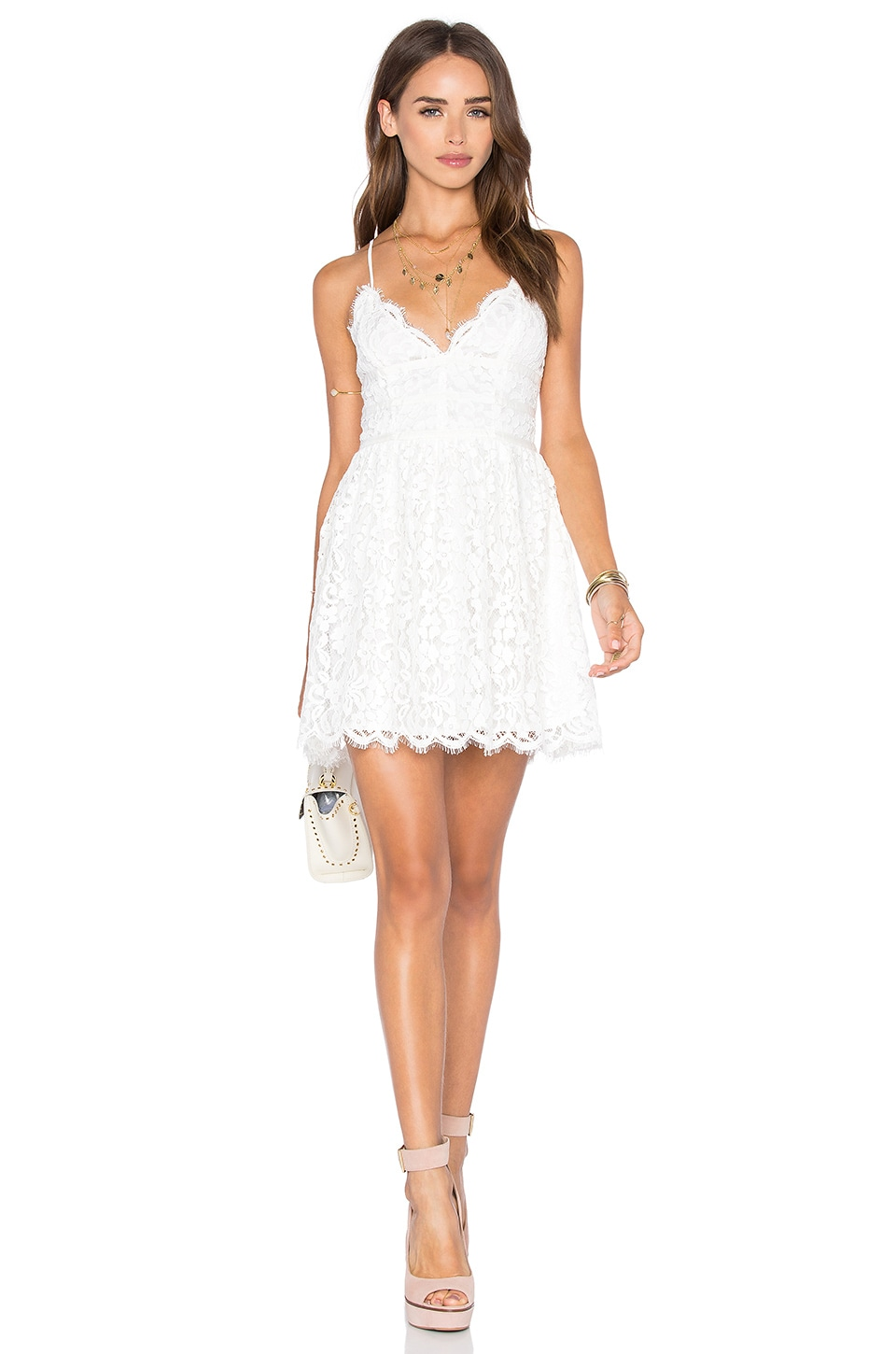 NBD x REVOLVE Give It Up Dress in Ivory
