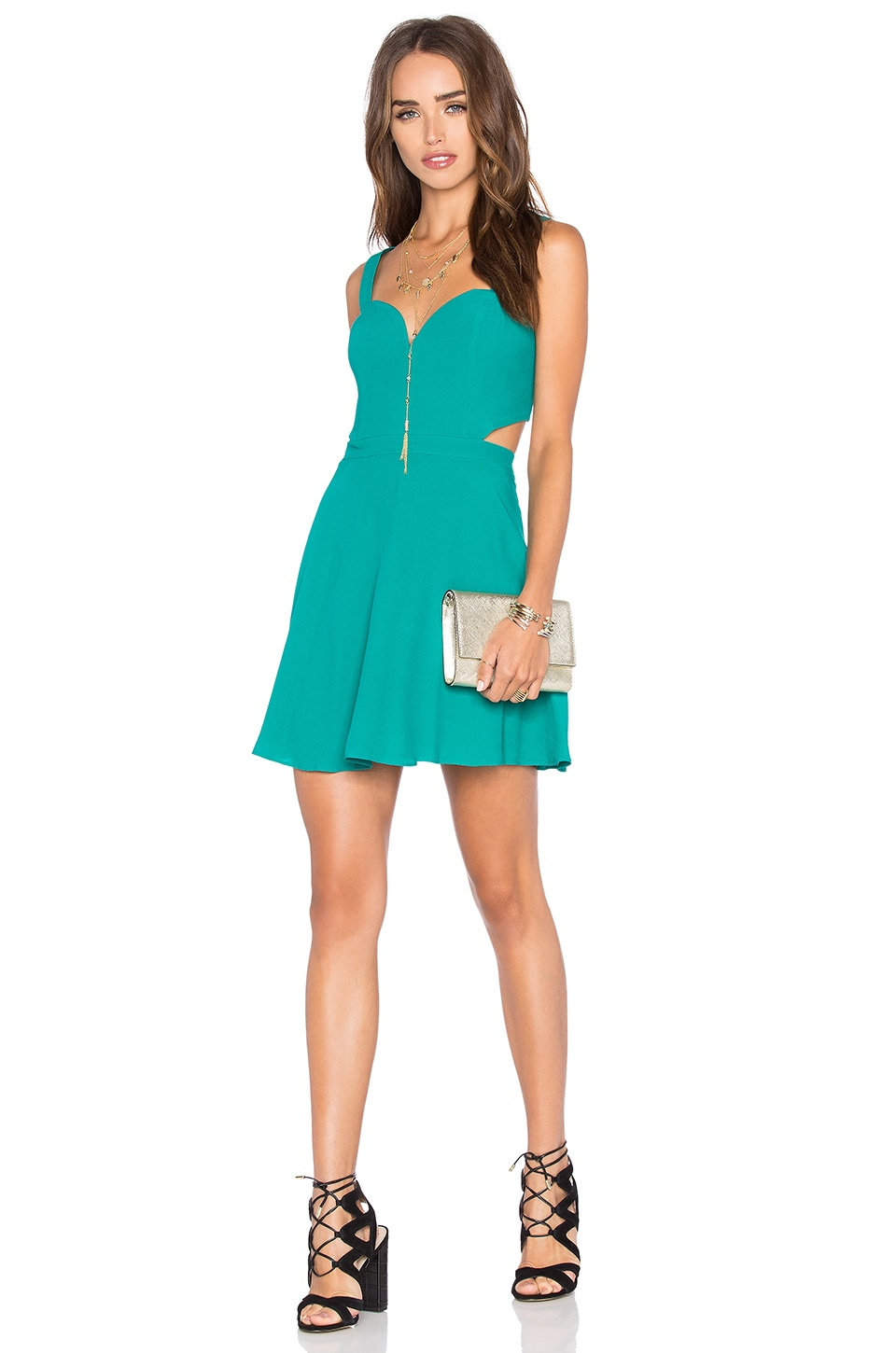 NBD x Naven Twins Swinging Sweetheart Fit & Flare Dress in Teal ...