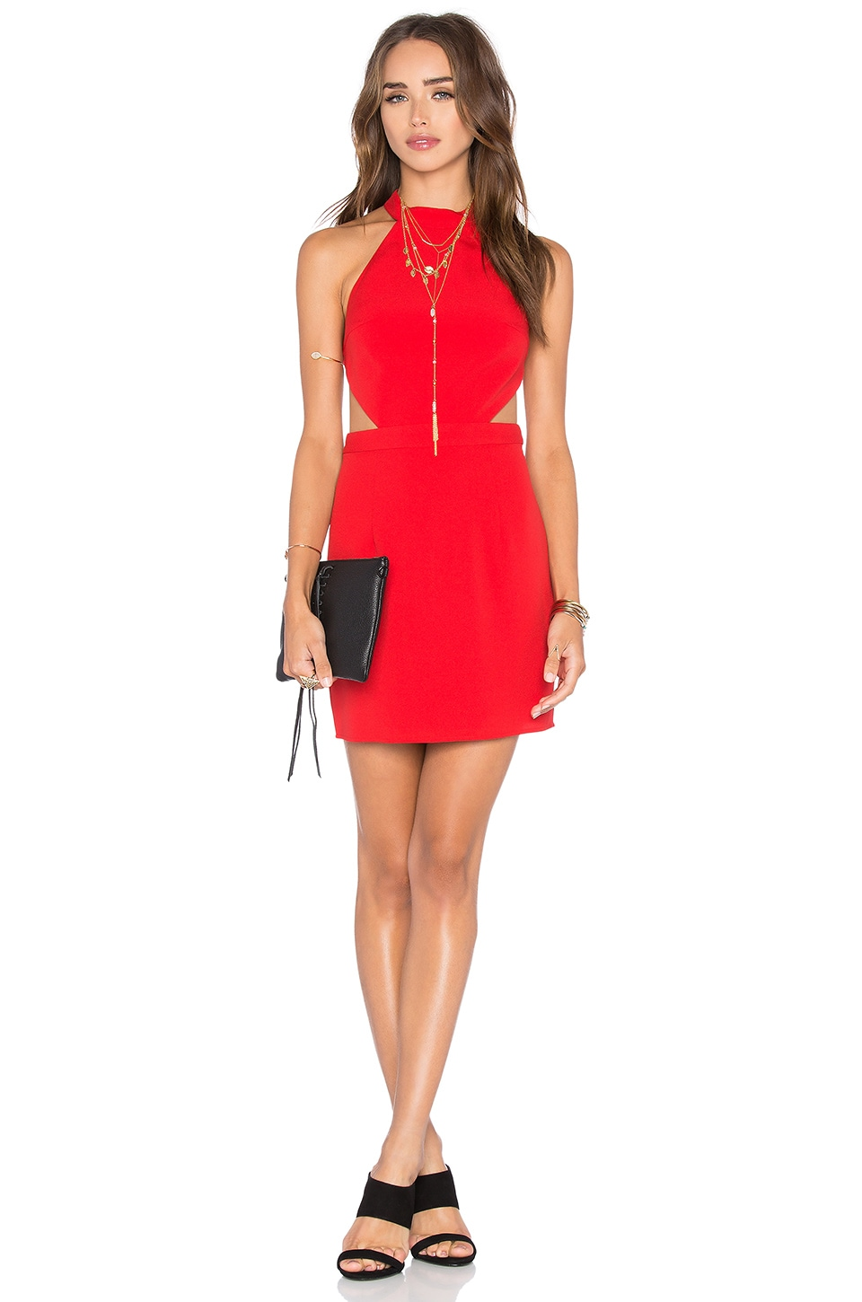 NBD x Naven Twins Show It Off Bodycon Dress in Lipstick Red
