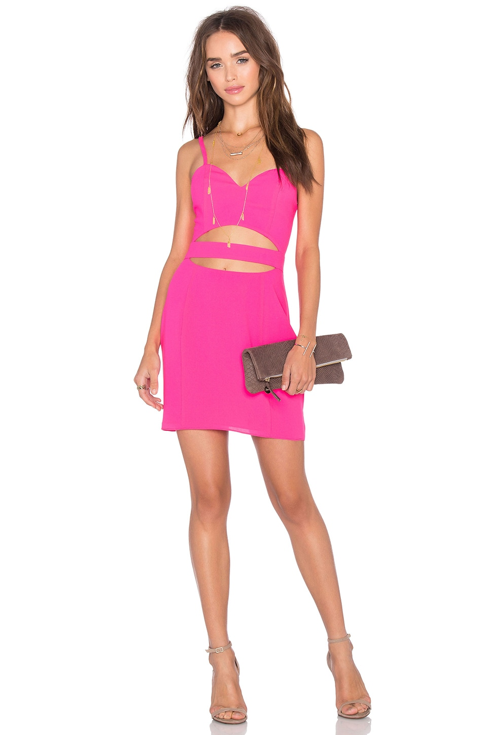 NBD x Naven Twins Cross It Off Bodycon Dress in Fuschia | REVOLVE