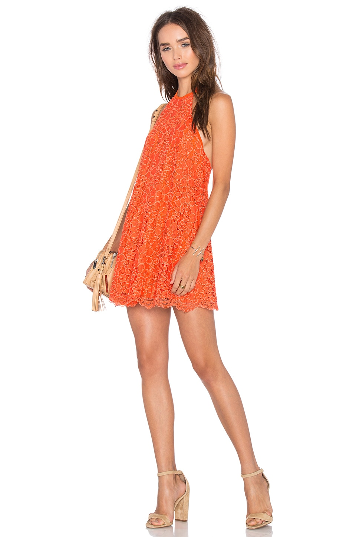 NBD Big Ego Dress in Coral
