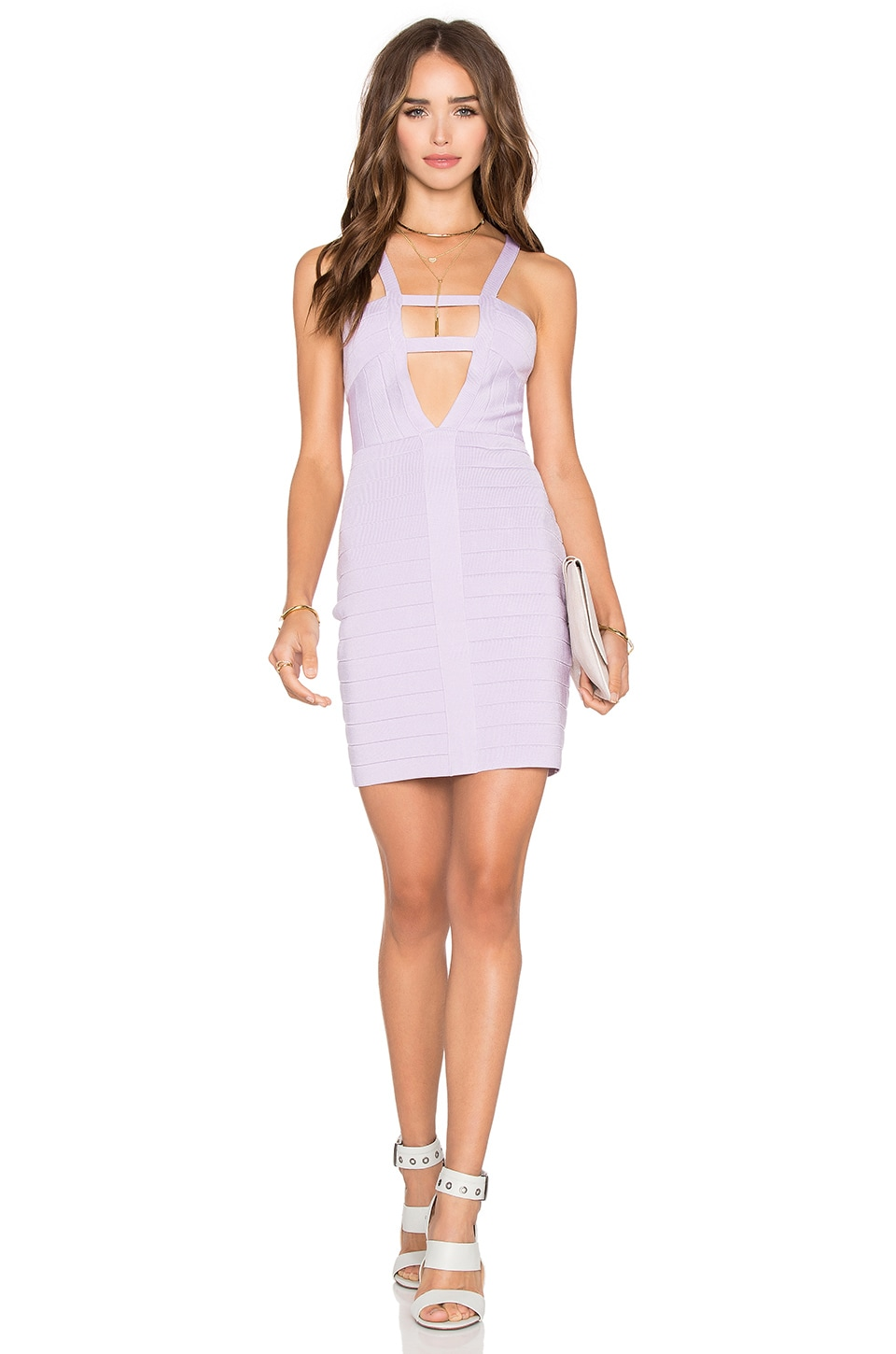 NBD x Naven Twins What A Night Bandage Dress in Lavender