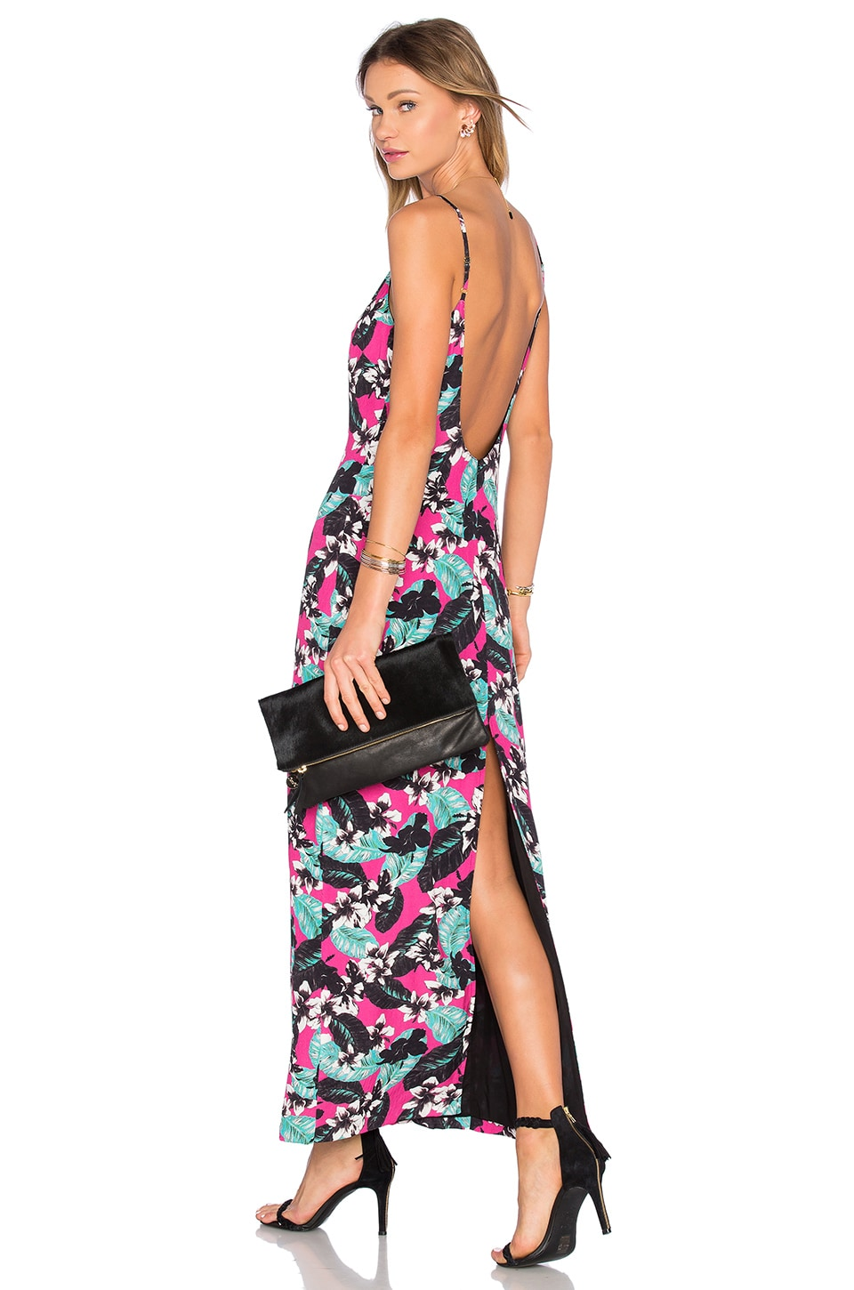 x Naven Twins Tropical Plunge Maxi Dress by NBD