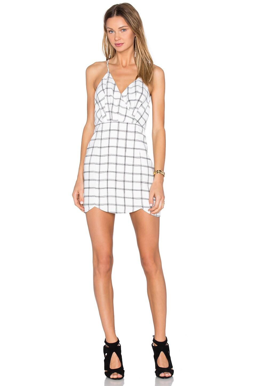 NBD Mist Dress in Black & White Grid