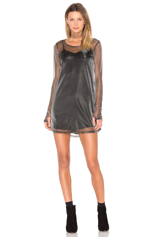NBD Brooklyn Dress in Black Lurex