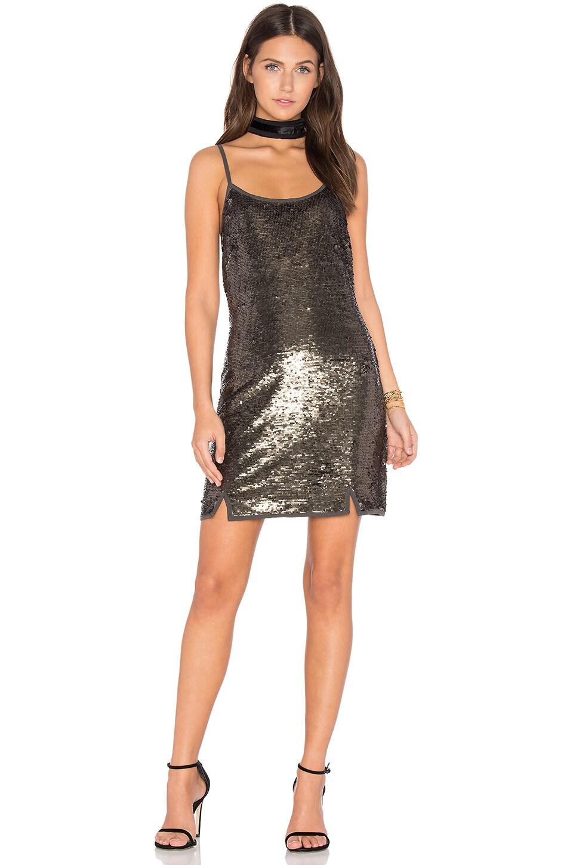 NBD Perla Mini Dress in Charcoal