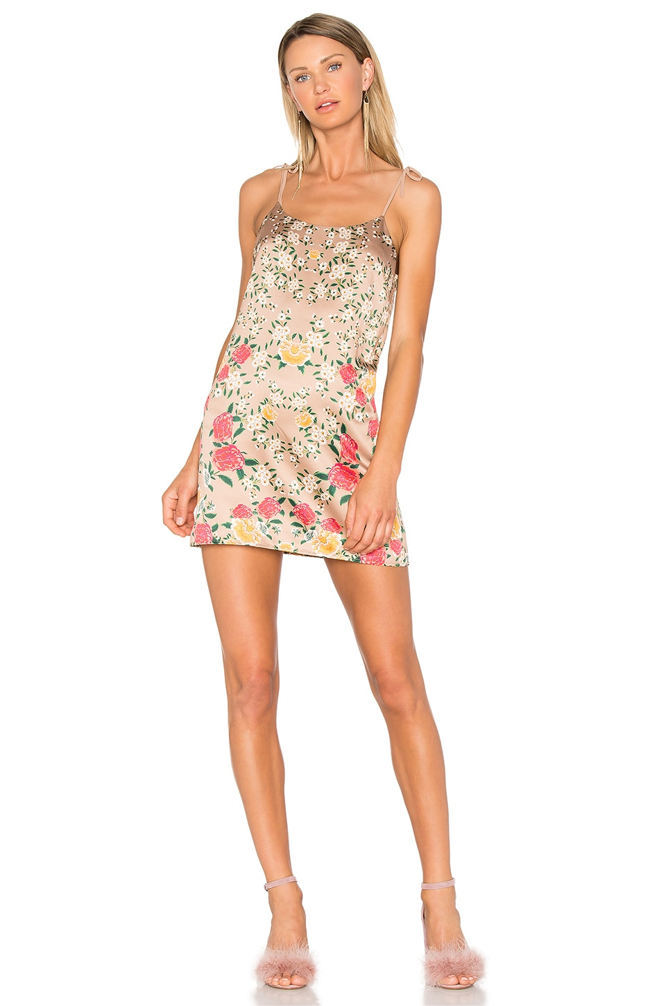 NBD Frieda Mini Dress in Sandy Rose Floral