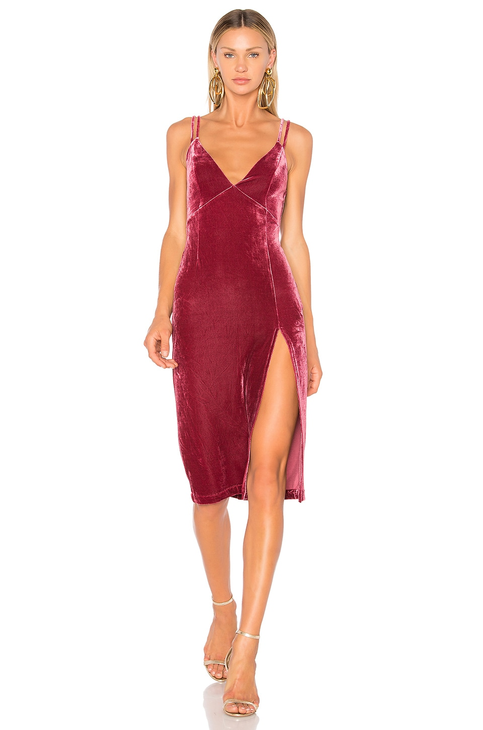 NBD X REVOLVE Shine On Dress in Mauve