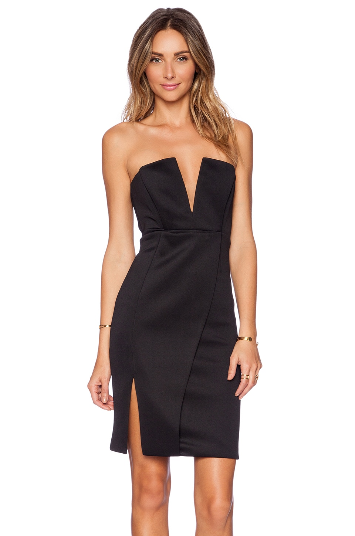 NBD Unravel Midi Dress in Black