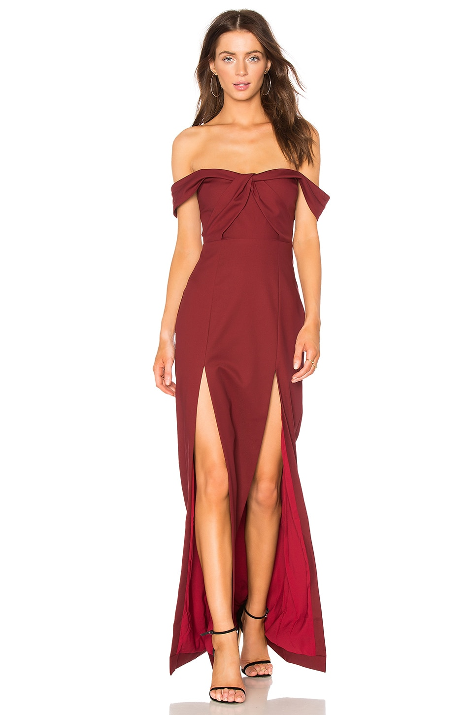 NBD x REVOLVE Corah Gown in Maroon