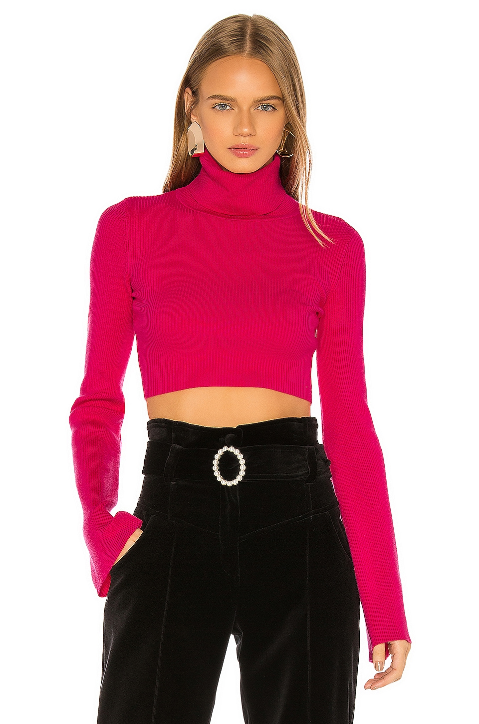 NBD Tally Sweater in Magenta