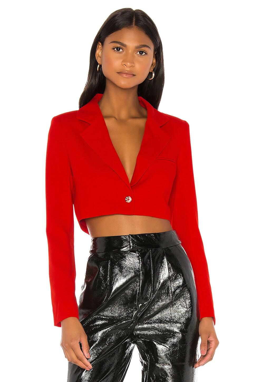 NBD Sabina Cropped Blazer in Red