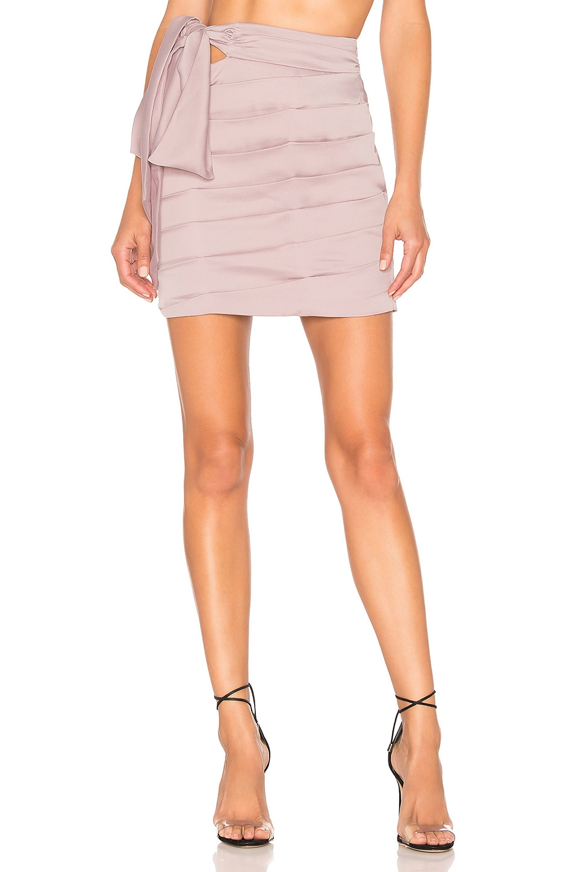 NBD Logan Mini Skirt in Mauve