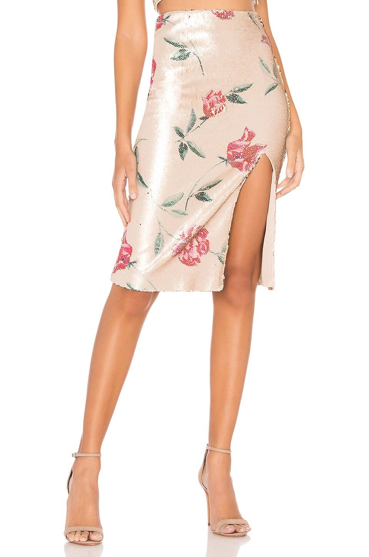 NBD Cosmopolitan Midi Skirt in Rose Floral