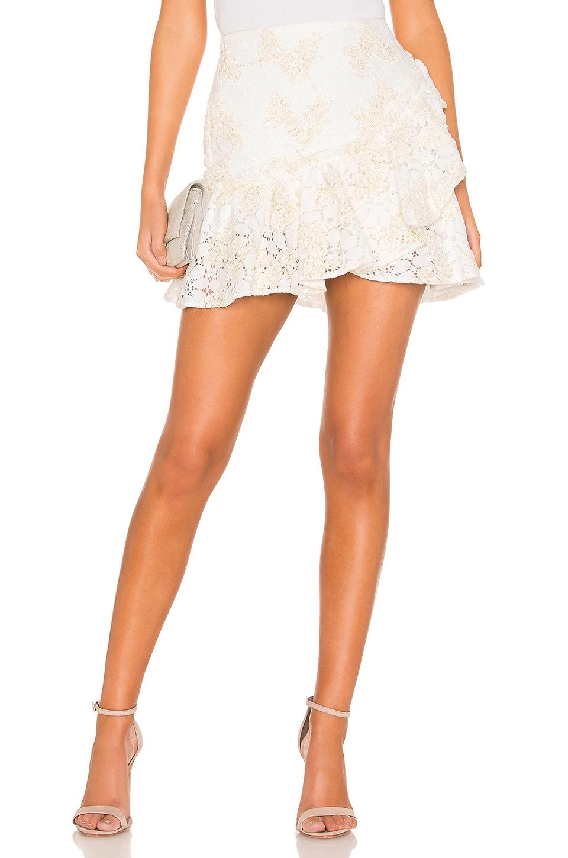 NBD Rainfall Mini Skirt in Star White