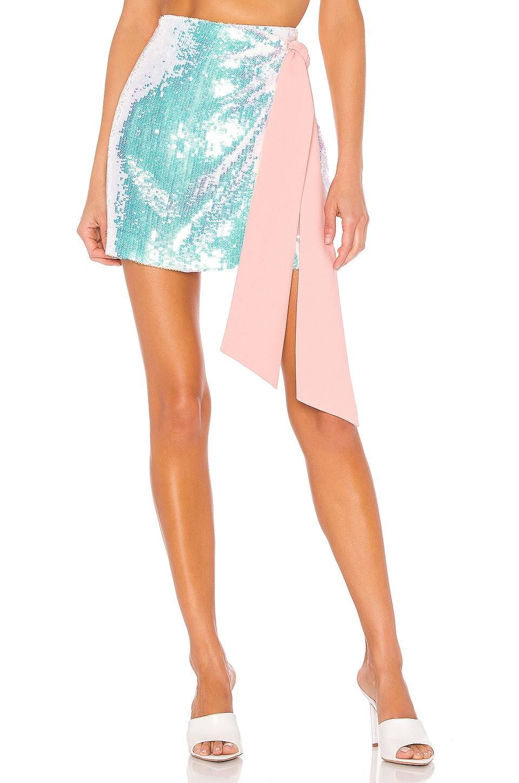 NBD Loretta Mini Skirt in Iridescent Pink