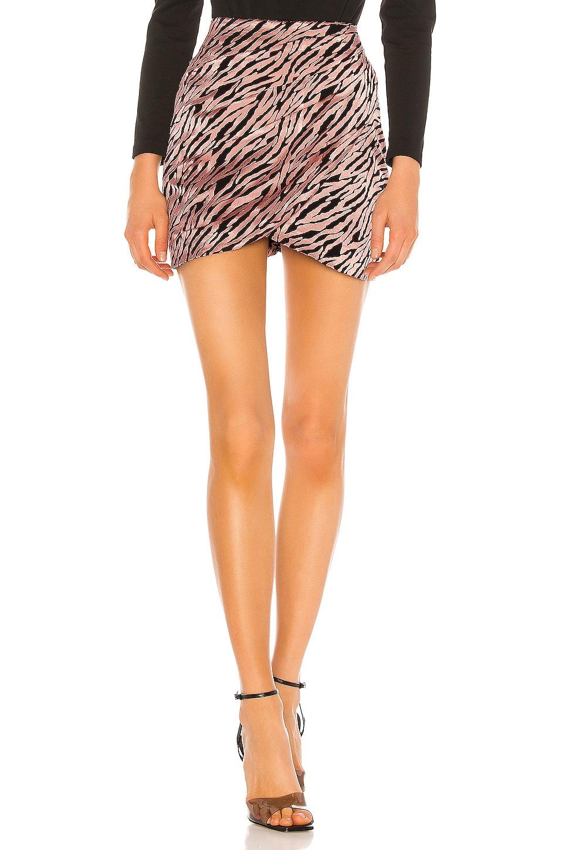 NBD Marcia Mini Skirt in Pink & Black