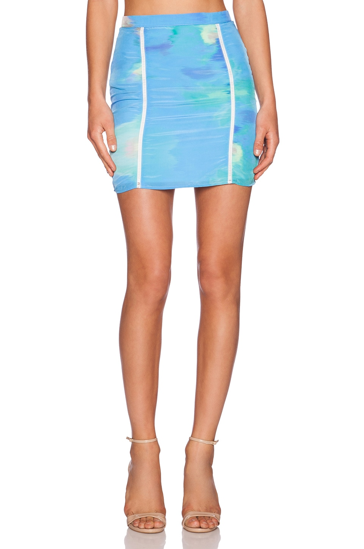 NBD x Naven Twins Diamond Skirt in Oasis
