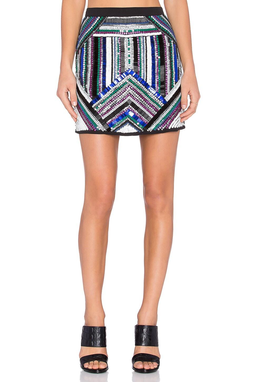 NBD x Naven Twins Go Getter Skirt in Embellished