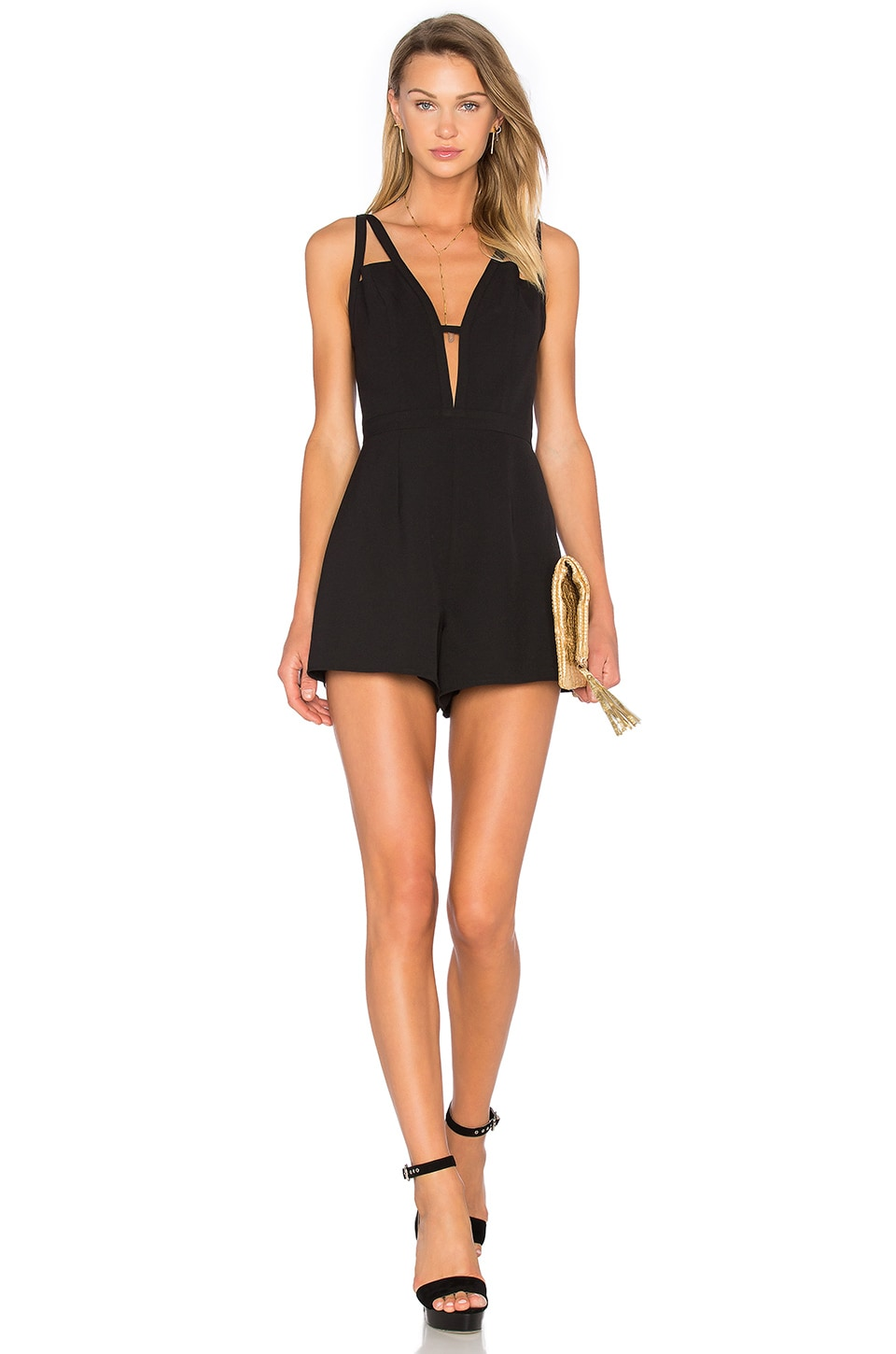 NBD X Naven Twins Let It Happen Romper in Black