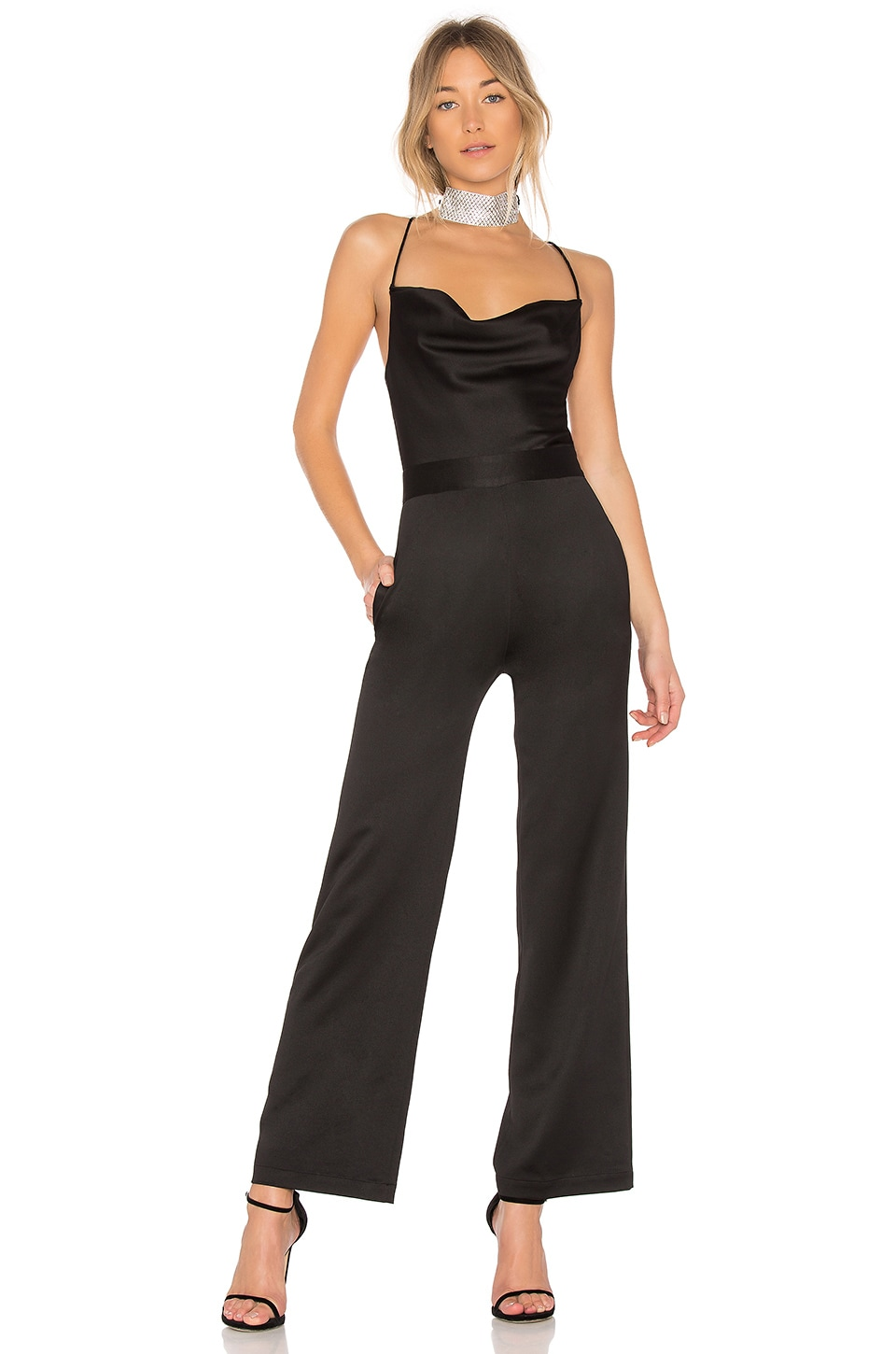 NBD Diem Jumpsuit in Black
