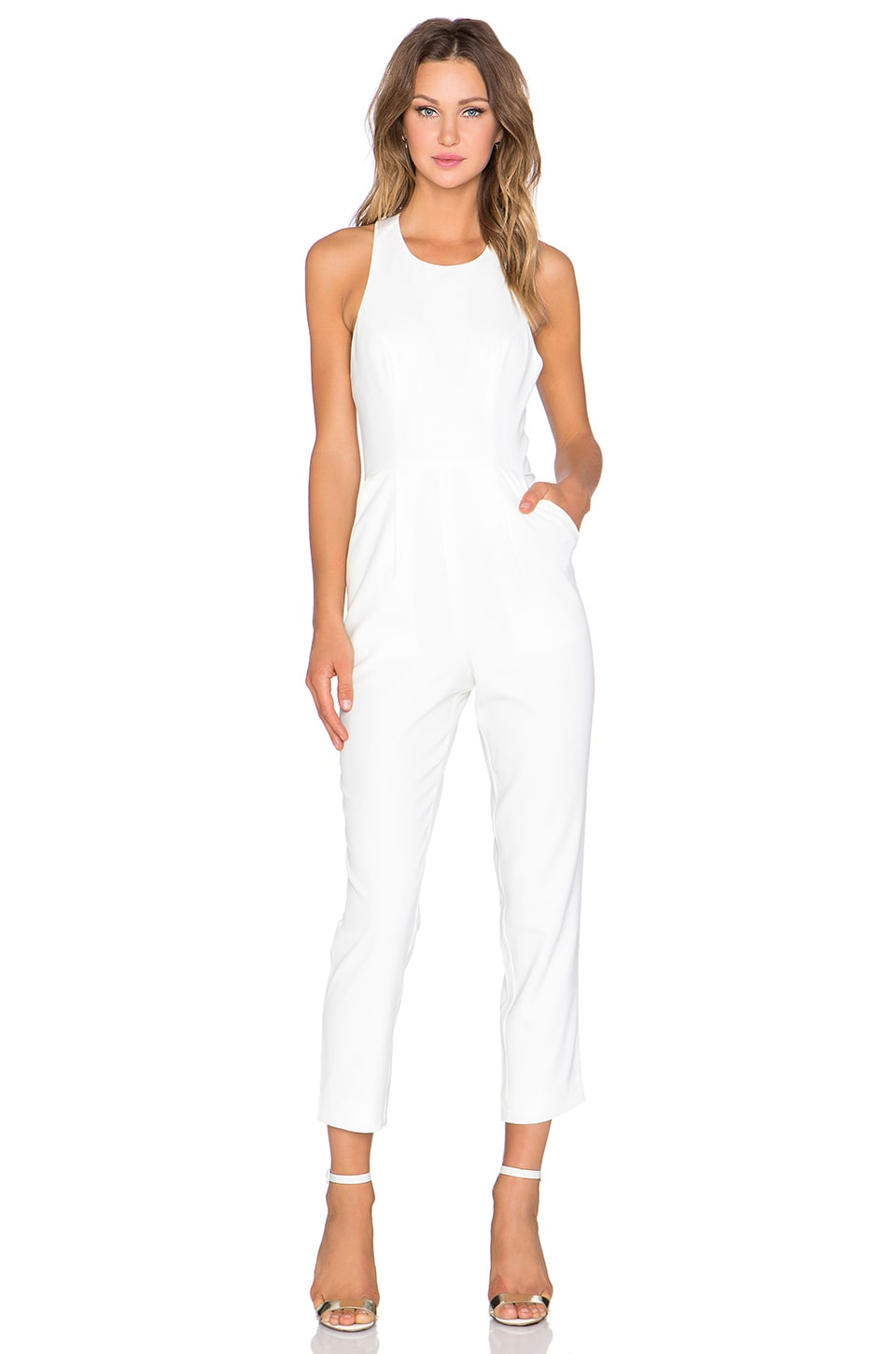 NBD x Naven Twins Take A Bow Jumpsuit in Optic